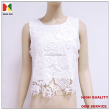 2015 new fashion bare midriff tank top for women, sexy embroidered tops
