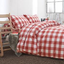 2015 winter hot brand new classic check design cotton bedding set 4pcs set