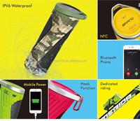 CSR4.0 NFC Waterproof Shockproof Dustproof Portable Bluetooth Speaker With4400 mAh power bank