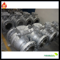Carbon steel gear operation floating ball valve