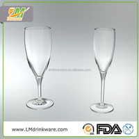 Wholesale glassware champagne flutes goblet glass set