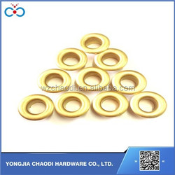 12*6*5mm high quality metal eyelet round brass garment / shoe eyelet