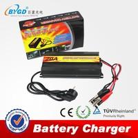 Smart intelligent 10 amp AC-DC 220v to 12v battery charger