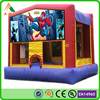 0.55mm pvc spiderman bouncing castles/ cheap inflatable bouncers for sale