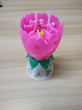 Happy Birthday Fireworks Sparkling Flower Magic Music Candle