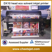 1.6m low price best small 2 dx10 head eco solvent banner sticker printer