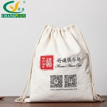 Wholesale custom printing cotton canvas drawstring backpack