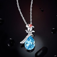 Original Design Fashion Necklace,2015 Rose Crystal Jewelry For Women