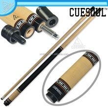 CUESOUL Handmade Curly Maple Wood 19oz 1/2 Jointed Billiard Pool Cue with Joint Protector