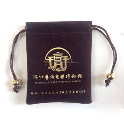 Premium gold hot stamping logo black velvet jewelry pouch,small velvet pouches for jewelry,,jewelry pouch with logo