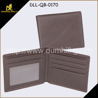 Bifold Brown China man leather purse, cheap Men Wallet With 4 Card Slots