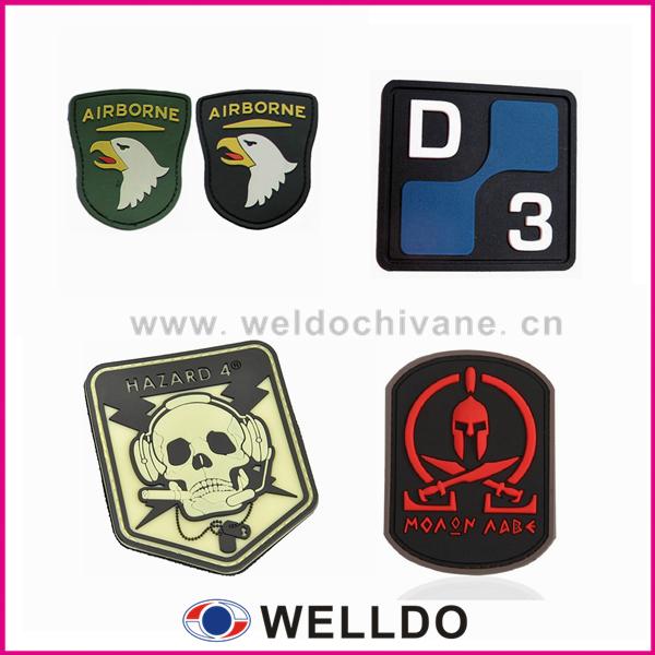 Micro patch personalizado militar de borracha de injeção