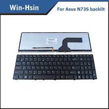 US keyboard for asus n73s laptop backlit keyboard n53 n73 n73j g72 k52 k53 x73 g73s