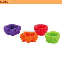 kids bakeware cute silicone mini baking cups set, mini cupcake molds, mini muffin molds