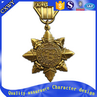 shenzhen factory custom military medal with ribbon