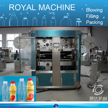 Double Heads Automatic Shrink Sleeve Labeling Machine for bottle body and bottle neck