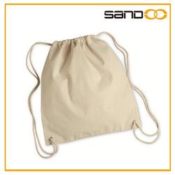 2015 Cotton Canvas Beach bag, Cheap Canvas Drawstring Bag