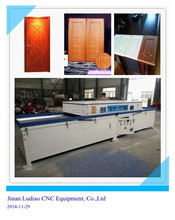 Jinan MDF door PVC film vacuum membrane laminating press machine for kitchen cabinet with Wood CNC Router