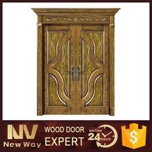 american villa wood door , main entrance double wood door