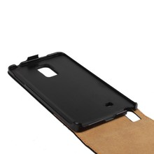 Classic look Auto wake & sleep Stitch Genuine Leather up and down flip case case for Galaxy Note Edge N9150