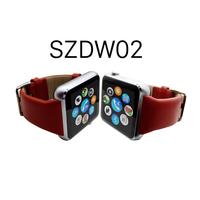Latest Wrist Watch Mobile Phone, SIEZEND Fitness Tracker Genuine Leather Wrist Watch/