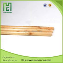 Chinese 110cm/120cm length broom stick varnish, wooden mop stick prices