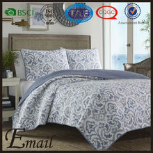 China wholesale floral vine elegant printed soft touch bedspread high level cotton quilts