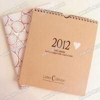 WT-CLD-930 kraft paper printable calendar 2014