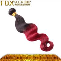 Cheap hair extension brazilian 99j human hair weave