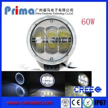 Prima Super Bright Round 7inch 9inch 60W Led work light with angel eye, 4x4 Blue ring led dirving light for off road use