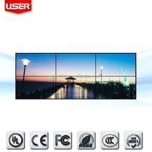 Indoor 47inch 2015 lcd china video panel wall screen 4.9mm ultra narrow bezel VGA/HDMI/DVI 3 x 4