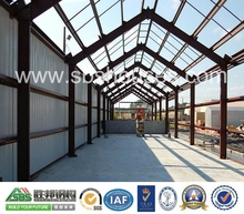 SBS steel crane beam double pitch roof warehouse or workshop or steel structure building