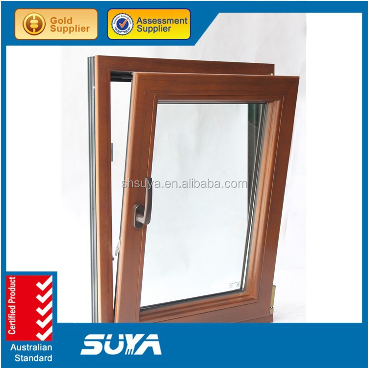 Double glazing aluminum wood cladding awning window for Cheap double glazing