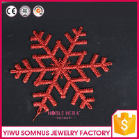 foam snowflower craft red style soft white snow flower