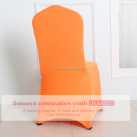 orange shinning spandex wedding/hotel/banquet chiar cover