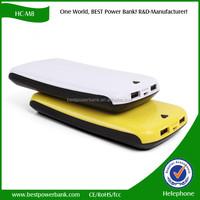 HC-M8 powerful smartphone two usb high capacity 16000mAh power bank