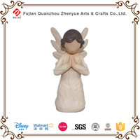 Hot selling wood resin Angel statue crafts