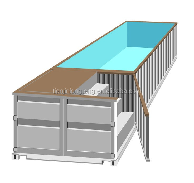 Prix usine nouveau design shippping container container for Piscine container