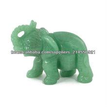 Natural gemstone elephant animal carvings