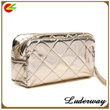 New Fashion Women's Travel Makeup bag Lady Golden Cosmetic Bag