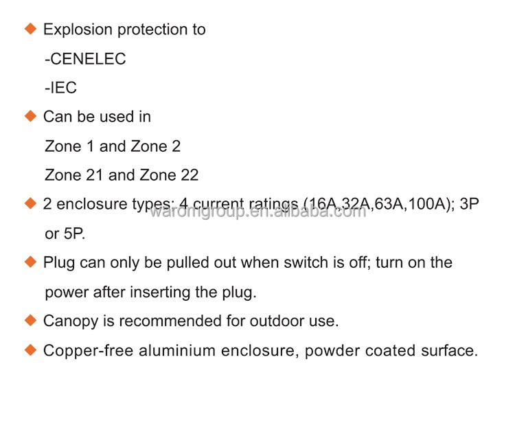 Explosion-proof Plugs and sockets BCZ54