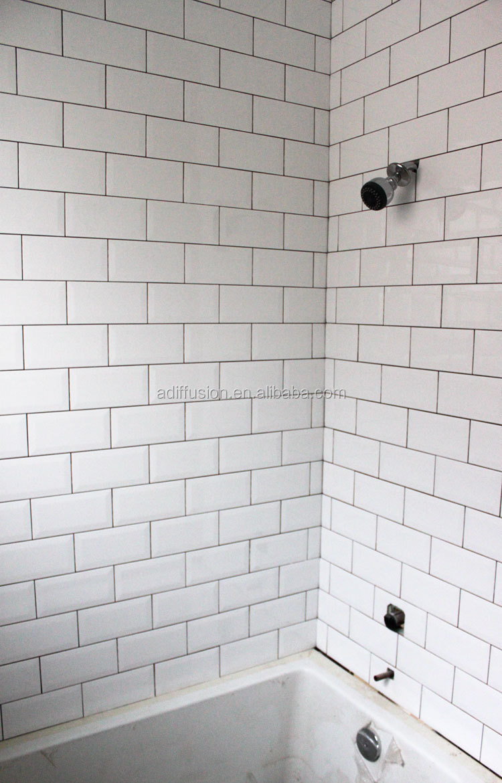 White Matte Beveled Subway Tiles 7515cm 3x6 Buy Matte Wall