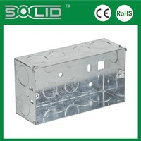 BS4662 3x6 47mm deep electrical metal ourdoor switch box of wall installation