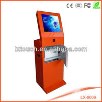 lx9009 self-service kiosk machine with A4 laser printer, barcode reader,card reader optional