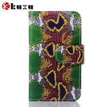 Newest flowery genuine leather phone case with credit card holder many for sale