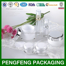 classic round cosmetic packaging bottles and jars