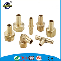 CNC machining high pressure steam brass pipe fittings with barb