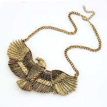 ODM/OEM Jewelry Factory alloy vintage USA Eagle necklace, eagle wings necklace