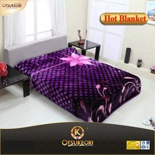 High class looking bright 1 ply korean style raschel mink blanket