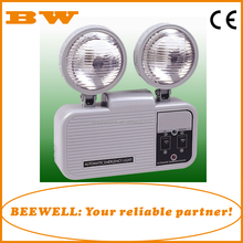 CE listed factory prices two head 2x3W bulds LED emergency lamp